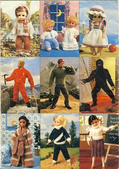 Sirdar Knitting Pattern Booklet #117 - Guys and Dolls - back cover