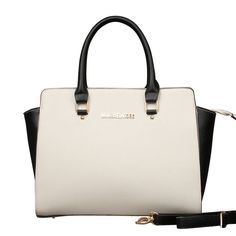 Michael Kors Selma Top-Zip Large White Satchels, Your First Choice