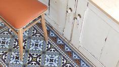 tapis vinyle aspect carreaux de ciment