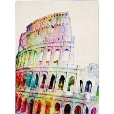 Trademark Art 'Colosseum' Canvas Art by Michael Tompsett