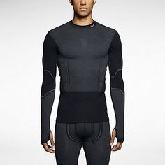 Nike Pro Combat Hyperwarm Flex Football Gear, Nike Pro Combat, Grey Nikes, Black And Grey, Large Black, Nike Pros, Nike Running, Men Sweater, Turtle Neck