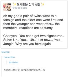 omfg i thought chan's was brutal but was thAT KAI'S ACTUAL RESPONSE OMFFGGGG HAHAHAHAHAHA DAAMN BOY GOT NO CHILL