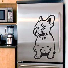 Wandaufkleber Hund Französisch Bulldog Welpen von Psiakrew auf DaWanda.com