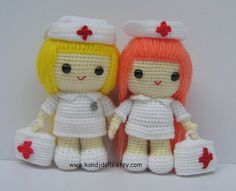 cute kawaii gifts for friends who are in hospital or need to get well soon or a thank you to a lovely nurse who looked after you Nurse Jazzy, amigurumi, crochet pattern   da K and J Dolls