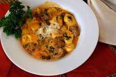 Savory Experiments: Creamy Tortellini and Sausage Soup