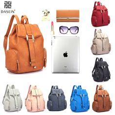 9a5c07533c New Dasein Women Leather Backpack Handbag Schoolbag Shoulder Bag Travel  Purse Travel Bags For Women