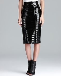 Burberry London Skirt - Patent Leather Pencil