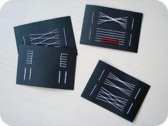 Binding test cards by lemonyfrog on Flickr