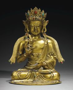 GILT-BRONZE FIGURE OF AMITAYUS, CHINA, QING DYNASTY, 18TH CENTURY