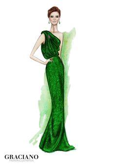 GRACIANO fashion illustration: Juana Viale by Carolina Herrera #MartinFierro 2013