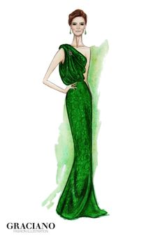 GRACIANO fashion illustration: Juana Viale by Carolina Herrera #MartinFierro 2013
