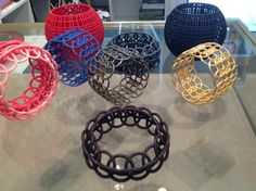 Gravers Lane Gallery. Chestnut Hill, PA - Maria Eife- 3-D printed jewelry.