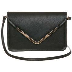 Stilvolle schwarze Tasche 24,95€ ♥ Hier kaufen:  http://www.stylefru.it/s19242 #Tasche #Schwarz #Gold