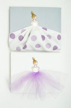 Set of 2 Lavender Nursery Artwork – Shenasi Concept