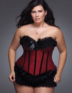 "Sexy for a curvy girl  ""Rouge Leopard"" Plus Size Corset from Wicked Temptations -"