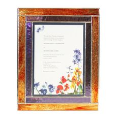 Stained Glass Keepsake Wedding Invitation Box in by BazaarGlassLLC
