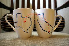 Long distance best friend mugs