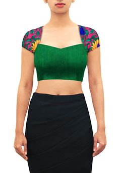 Buy Designer Blouses online, Custom Design Blouses, Ready Made Blouses, Saree Blouse patterns at our online shop House of Blouse from India. Blouse Neck Designs, Kurta Designs, Blouse Styles, Blouse Patterns, Choli Designs, Designer Blouses Online, Designer Saree Blouses, Saree Jackets, House Of Blouse