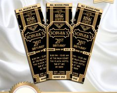 Great Gatsby Style Art Deco Party Invitation – prom, graduation, birthday 21 30 30 40 50 50 60 70 70 80 90 – print or digital, - New Sites Roaring 20s Birthday Party, Great Gatsby Themed Party, Roaring 20s Theme, Roaring Twenties Party, Themed Parties, Prom Decor, Graduation Party Decor, 21st Birthday Invitations, Party Invitations