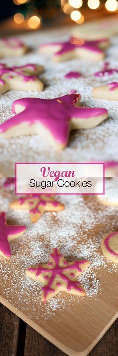 Easy Vegan Christmas sugar Cookies for holiday decorating!