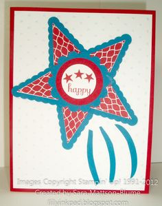 Lily's Ink Pad: Happy Fourth of July!  Uses the the pennant punch