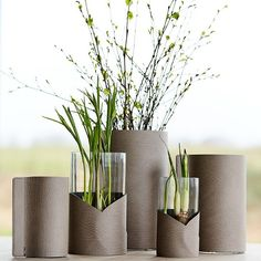 """LIND DNA on Instagram: """"We can almost sense spring 🌱Our 'Fold Vase' and 'Block Vase' are both part of a collection of vases with a Nordic touch, that combines…"""" Flower Vases, Flowers, Vases Decor, Dna, Decorating Ideas, Touch, Canning, Spring, Collection"""