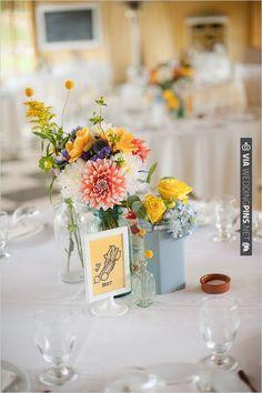 easy wedding table decor   CHECK OUT MORE IDEAS AT WEDDINGPINS.NET   #wedding