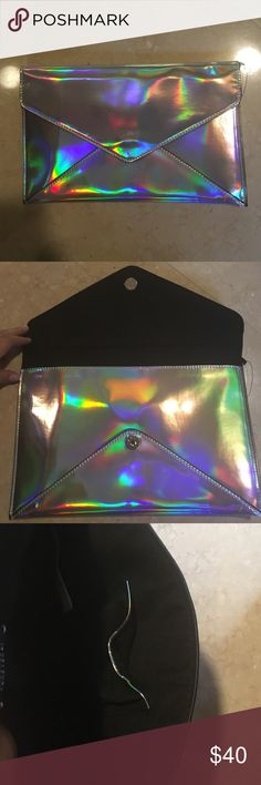 Psychedelic Silver Clutch *NEW* Have not been used Zara Bags Clutches & Wristlets