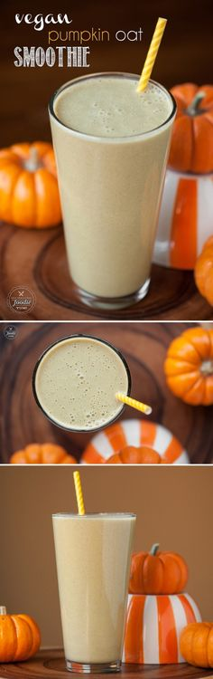 Take on your day knowing you've taken care of yourself already with this healthy and satisfying fall inspired Vegan Pumpkin Oat Protein Smoothie.