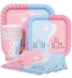 Tem até kit para chá de bebê revelação <3