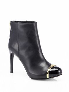 5636f7467883 Tory Burch - Pacey Leather Ankle Boots - Saks.com. Leather Ankle BootsMy  Shopping ListBeautiful ShoesWedgesGlass SlipperShoe BootsSandalsHigh Heels Style
