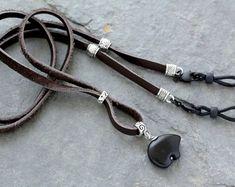Eyeglass Holder, Scarf Jewelry, Deer Skin, Leather Working, Eyeglasses, Eyewear, Turquoise, Boho, Chain