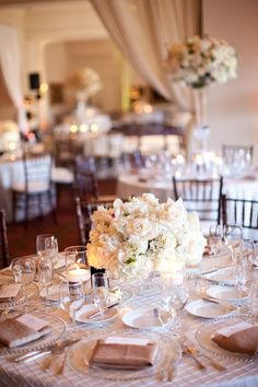 Blush and Ivory Reception - cream rose, hydrangea and orchid | photography by http://jessicalewisphoto.com/