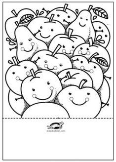 krokotak   PAPÍR GYÜMÖLCSTÁL Toddler Crafts, Preschool Crafts, Fun Crafts, Diy And Crafts, Crafts For Kids, Paper Fruit, Cute Easy Drawings, Scissor Skills, Alphabet Crafts