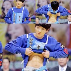 """^ STEP TO SHOW HIS ABS WITH THAT INNOCENT BUNNY FACEU . HOW DARE YOU JEON JUNGKOOK HAHAHA . I'M SO OK RN . BYE WORLD"""
