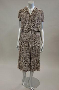 A Molyneux London day dress and bolero, circa 1936