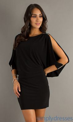 Short Dress with 3/4 Length Sleeves by Betsy and Adam