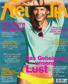 Featured in the German magazine Freundin, the Pauw Amsterdam maxi skirt combined with a petrol blouse.