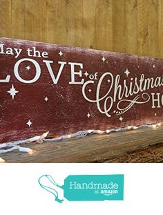 rustic christmas wall decor from Rusticly Inspired Signs https://www.amazon.com/dp/B01MEGTZH3/ref=hnd_sw_r_pi_dp_AH3bybDW5QCAF #handmadeatamazon
