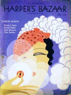 Harper's Bazaar cover by Erté, May 1933 | Tumblr