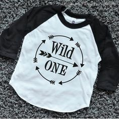 Wild One First Birthday Shirt Boy 1st Birthday Outfit Arrow Hipster Raglan Boy Clothes by BumpAndBeyondDesigns