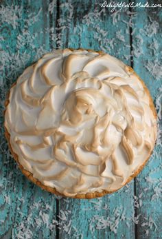 This classic cream pie is made even more amazing with a gorgeous meringue and perfectly creamy coconut custard filling. One of the best pie's you'll ever have!