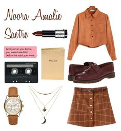 """""""Noora Amalie Sætre"""" by elinthenilsson ❤ liked on Polyvore featuring Michael Kors, CASSETTE, Chicnova Fashion, Chico's, Dr. Martens and Charlotte Russe"""