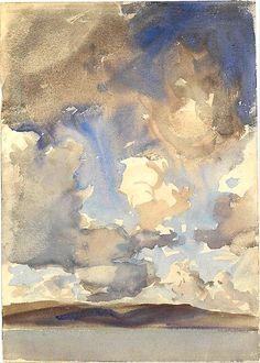 Clouds, 1896, John Singer Sargent