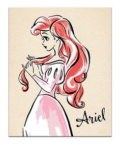 Look what I found on #zulily! Floral Vintage Ariel Fashionista Wrapped Canvas by Artissimo Designs #zulilyfinds