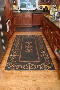 Sally Carmichael Designs, floorcloth for kitchen