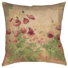 Floral 1 Indoor/Outdoor Throw Pillow