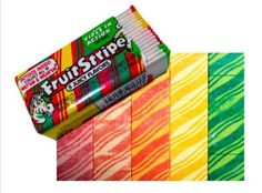 Fruit Stripes gum was popular in the 1980's. It was really good for like 30 seconds until it lost its flavor.