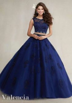 af3543c78273 Quinceanera Dresses by Morilee designed by Madeline Gardner. Two-Piece  Tulle Ball Dress with Beaded Lace Appliqu̩s Quinceanera Dress