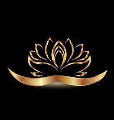Vetores semelhantes a 89540900 Gold stylized lotus flower logo vector image Lotus Flower Wallpaper, Lotus Flower Art, Flower Logo, Motif Arabesque, Backlit Signs, Desenho Pop Art, Black Phone Wallpaper, Customised Mugs, Black Background Images